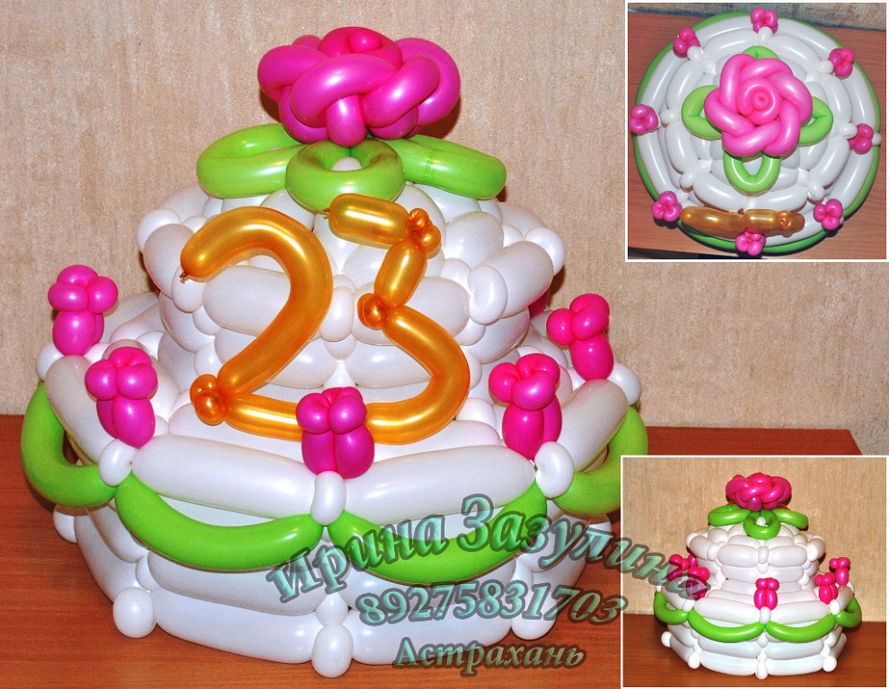 Торт из шариков фото